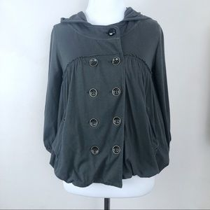 Free People Double Breasted Hoodie Size Small